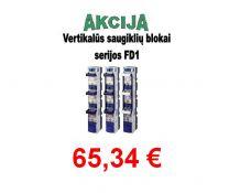 Saugiklių blokas 3pol. 1 vertik. 250A FD1-33/LW  gnybt. (11224)