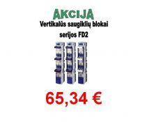 Saugiklių blokas 3pol. 2 vertik. 400A FD2-33/LW  gnybt.(11230)