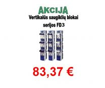 Saugiklių blokas 3pol. 3 vertik. 630A FD3-33/LW gnybt. (11240)