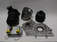 Alyvos aušintuvas,alyvos siurblys, alyvos filtro korpusas ir dangtelis, 2.0DT kuro filtro k-tas