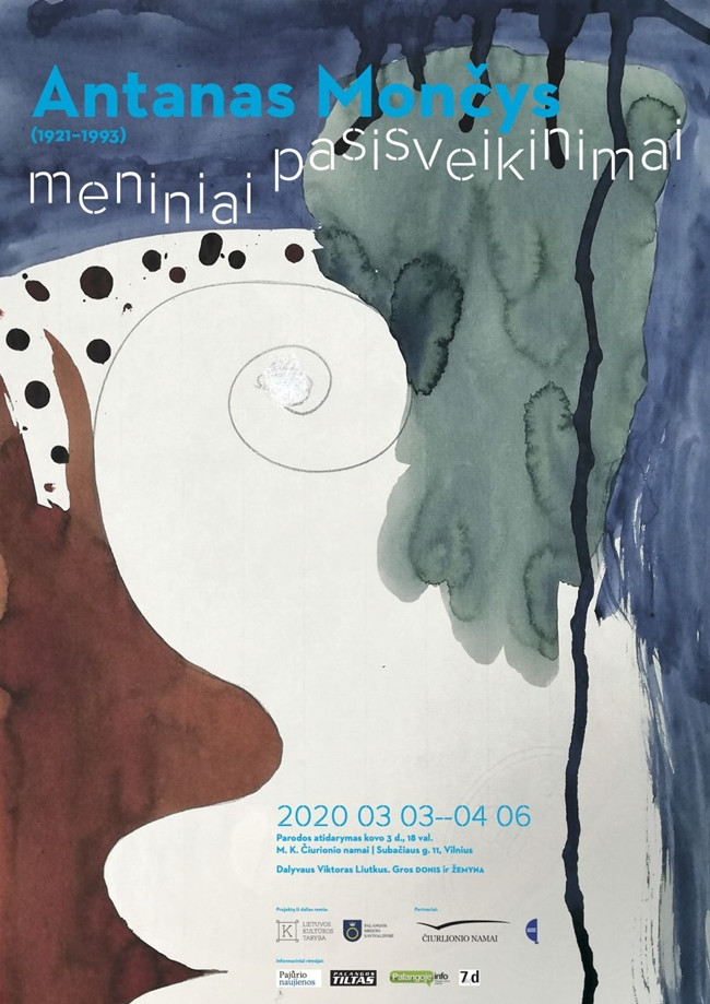 """A. Mončio (1921–1993) Kūrinių paroda """"Meniniai pasisveikinimai"""""""