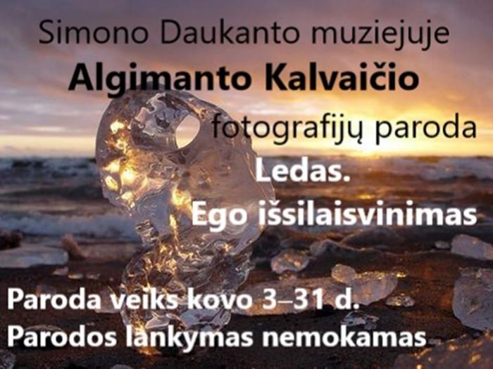 """Algimanto Kalvaičio fotografijų paroda """"Ledas. Ego išsilaisvinimas"""""""