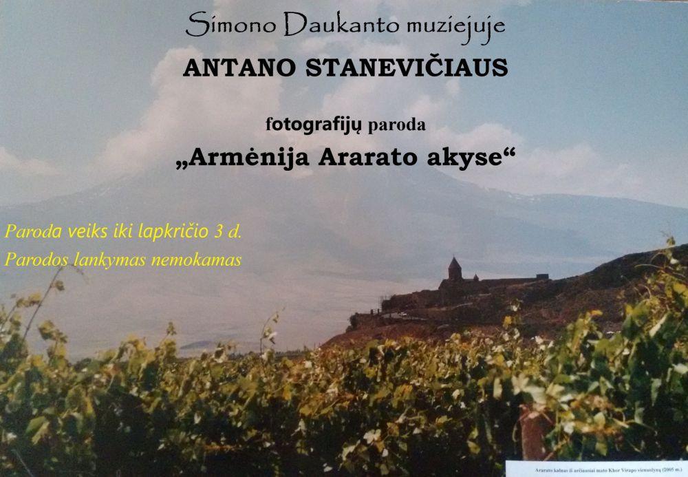 """Antano Stanevičiaus fotografijų paroda """"Armėnija Ararato akyse"""""""