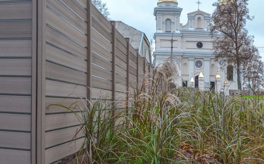 Širvintų mieste – pirmoji InoWood bio kompozito tvora