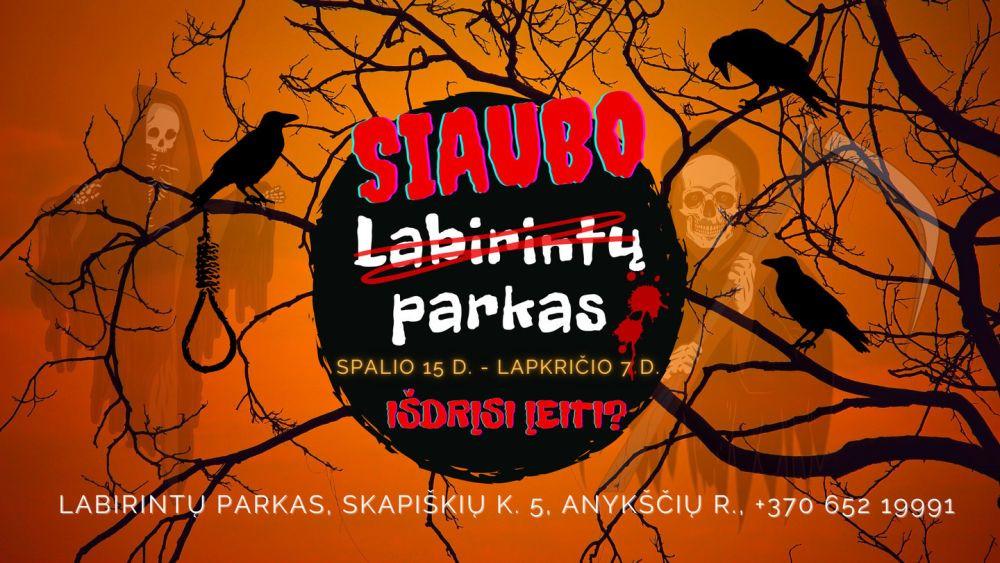 Nuo spalio 15 d. Labirintų parkas virsta SIAUBO PARKU